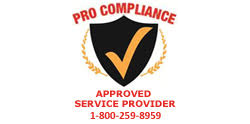 Pro Compliance Approved Service Provider